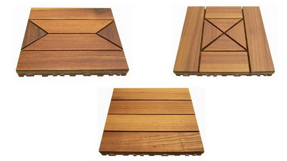 Solid Teak wood decking